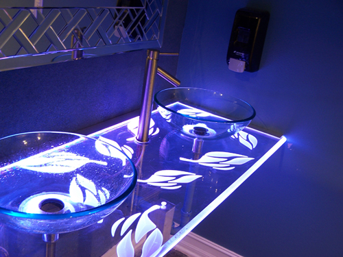 Clear Form Custom Sink Countertop Etching