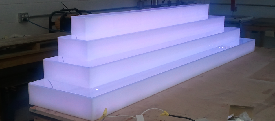 Liquor Display Bar Shelves Bottle Display Led Furniture